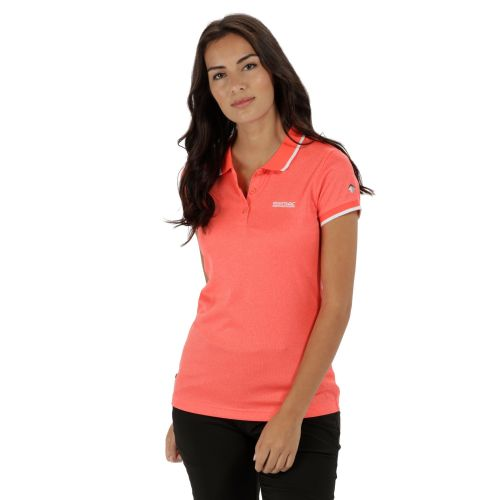 Regatta WOMEN'S REMEX POLYESTER POLO SHIRT - Fiery Coral Marl